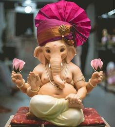 Make this Ganesha Chathurthi 2020 special with rituals and ceremonies. Lord Ganesha is a powerful god that removes Hurdles, grants Wealth, Knowledge & Wisdom. Shri Ganesh Images, Ganesha Pictures, Durga Images, Baby Ganesha, Ganesha Art, Ganesh Idol, Ganesha Drawing, Ganesha Tattoo, Ganpati Picture