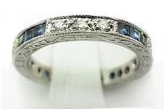 Vintage Diamond and Sapphire  Eternity Band  If ever I should marry again.....