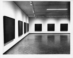 Ad Reinhardt, Black Paintings, 1960-5. Black oil paint on canvas, each 60 x60 inches. Various collections.