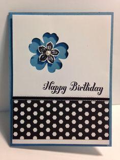 My Creative Corner!: Flower Shop with Petite Petals Negative Space Technique Birthday Card