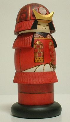 Warrior Red by Sansuku Sekiguchi. This work is a reproduction of a very brave general in red armour