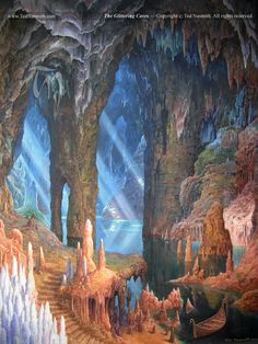 Gimli's dream: to start a new dwarf colony in the Glittering Caves...