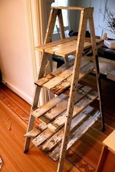 Display Rustic Ladder Shelf. Good for display space in a craft fair booth