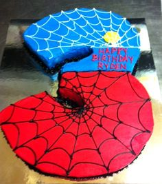 Spiderman Cake Ideas for Little Super Heroes - Novelty Birthday Cakes Spider Man Party, Fête Spider Man, Spiderman Birthday Cake, Superhero Birthday Party, 4th Birthday Parties, Third Birthday, Boy Birthday, Birthday Ideas, Birthday Cakes