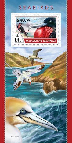 Post stamp Solomon Islands SLM 15206 bSeabirds (Fregata magnificens)