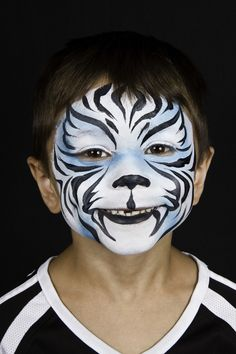 White tiger face paint