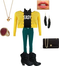 """""""Ea$y"""" by sydnykenny ❤ liked on Polyvore"""