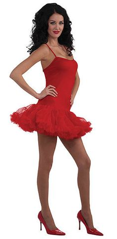 8fc3d286122f Halloween Ladies Red Net Tutu Dress Short Spanish Fancy Dress Costume New  10-14