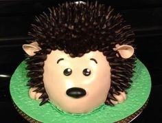 This is a hedgehog graduation cake for a friend 's son. Vanilla cake filled with vanilla mousse and iced in chocolate bc. It's covered and decorated in Dark chocolate fondant. Hedgehog Cookies, Hedgehog Cake, Hedgehog Birthday, Vanilla Mousse, Vanilla Cake, Chocolate Fondant, 1st Birthday Parties, Birthday Cakes, Convenience Food