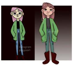 piggysart instagram facebook illustration drawing sketch  Ayker girl evolution