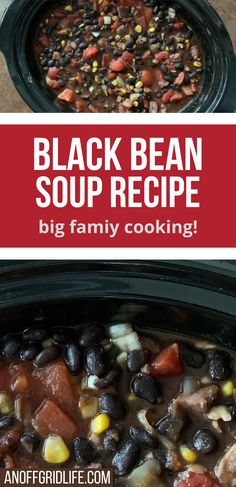've been dishing up this ham and black bean soup recipe for over 25 years now. It's one of my family's favorites, and as all you parents of large families out there know, it's rare to get all your kids to agree on something. So if I create a big family meal they all like – it's a keeper! #blackbeansoup #souprecipe #blackbean