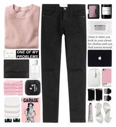 """this time ain't gonna run away"" by untake-n ❤ liked on Polyvore featuring Current/Elliott, H&M, NARS Cosmetics, Byredo, Stila, Mossimo, T3, Old Navy, Burberry and SUQQU"