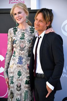 Actor Nicole Kidman and recording artist Keith Urban attend the 52nd Academy of Country Music Awards.
