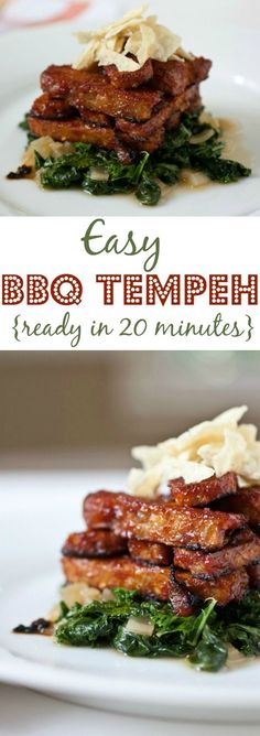 Easy BBQ Tempeh Recipe: vegetarian, vegan, and ready in 20 minutes - only uses 3 ingredients!