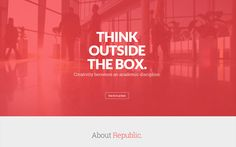 Republic single page WP Theme http://onepagemania.com/republic-theme/ #wordpress #theme