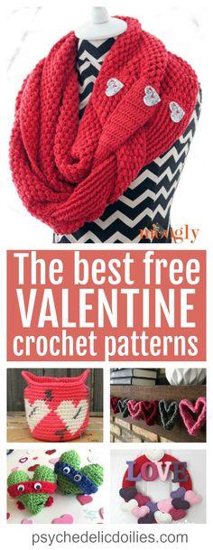 The best free Valentine Crochet Patterns on Pinterest
