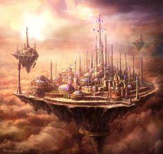 o reino mágico de Dalaran. World of Warcraft Concept Art: Dalaran by Peter Lee