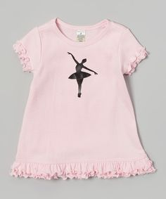 Another great find on #zulily! Baby Pink Ballerina Dancer Dress - Infant, Toddler & Girls by Bourbon Street Boutique #zulilyfinds