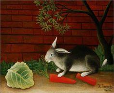 Henri Rousseau (1844 - 1910) | Naïve Art (Primitivism) | Rabbit - 1908