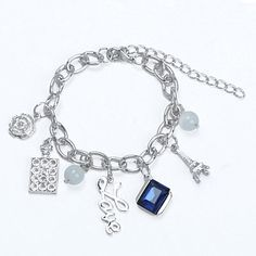 Korean Silver Color Gemstone Decorated Multielement Design Alloy Korean Fashion Bracelet :Asujewelry.com