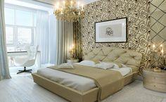 Papel pintado para un dormitorio de lujo