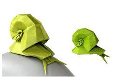 escargo origami snail