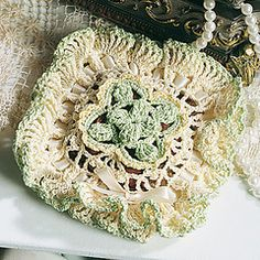 Ravelry: Square Ruffled Sachet pattern by Janet Giese