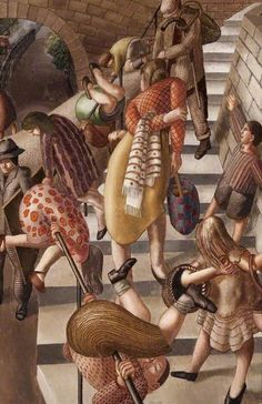 The Glen, Port Glasgow - Sir Stanley Spencer (British: 1891 – Stanley Spencer, Lost In Thought, Group Art, Large Painting, Figure Painting, Popular Art, Portraits, Abstract Drawings, Art Uk