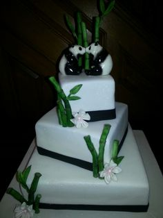 Bamboo Wedding Cake by SugarArt Cakes by Kassie