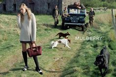 Cara Delevingne Poses in the Countryside for Mulberrys Fall 2014 Ads