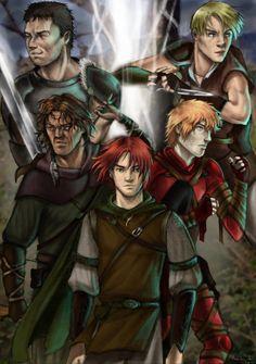 The Wise Man's Fear Mercenaries Dedan, Hespe, Marten, Tempi, and Kvothe