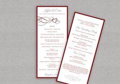 DiY Wedding Program Template  DOWNLOAD by DiyWeddingTemplates