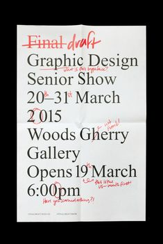 Final Draft Senior Show on Behance