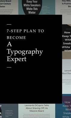 On the Creative Market Blog - A 7-Step Plan to Become a Typography Expert