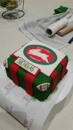 My nephew's rabbitohs bday cake