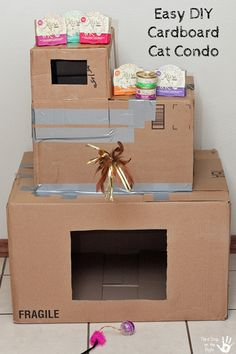 penny for a song: Cardboard Cat House   Pets   Pinterest ...