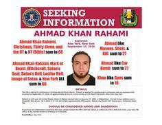 COG - Suspect in Chelsea Manhattan Bombing PSYOP
