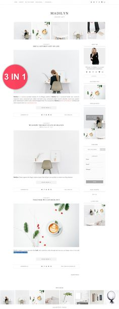 Blogger Premade Template - Madilyn - https://luvly.co/items/5402/Blogger-Premade-Template-Madilyn