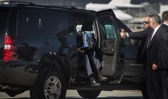 120 Sept. 22, 2012    Romney steps out of his sport-utility vehicle as he is about to board his campaign plane in San Francisco, bound for San Diego for a fundraising event.    Melina Mara / The Washington Post