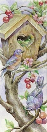 Birdhouse Bookmark By Leesa Whitten