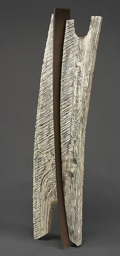 """Stoney Lamar ~ """"Just Another Soldier"""" ~ Wood Sculpture - Walnut, Steel and Milk paint"""