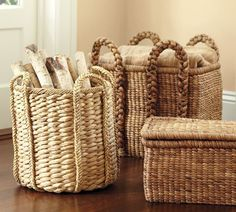 Beachcomber Baskets  great for firewood storage