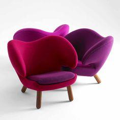 Finn Juhl Pelikan chair....we love the purple & pink!!!