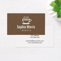 #template - #Custom barista coffee maker business card template #businesscardmaker
