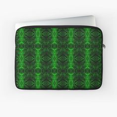 'Chic Abstract Emerald Green Pattern' Laptop Sleeve by HavenDesign Green Pattern, Sleeve Designs, Back To Black, Sell Your Art, Emerald Green, Laptop Sleeves, I Shop, Original Art, Abstract