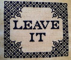 leave it | Flickr - Photo Sharing!