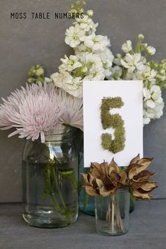 Are you looking for a pretty and affordable idea for the table numbers at your wedding or event? I think these would be cute as letters to...