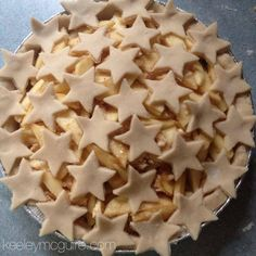 Homemade Apple Pie: Gluten, Nut, Dairy,  Egg FREE #Recipe // Stars perfect for 4th of July!