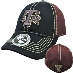 3a77b42c687 Texas A amp M Aggies TAMU Hat Cap NCAA Flex Fit Stretch Stitch Top of the