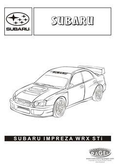 Subaru Impreza WRX STi - Cars coloring pages